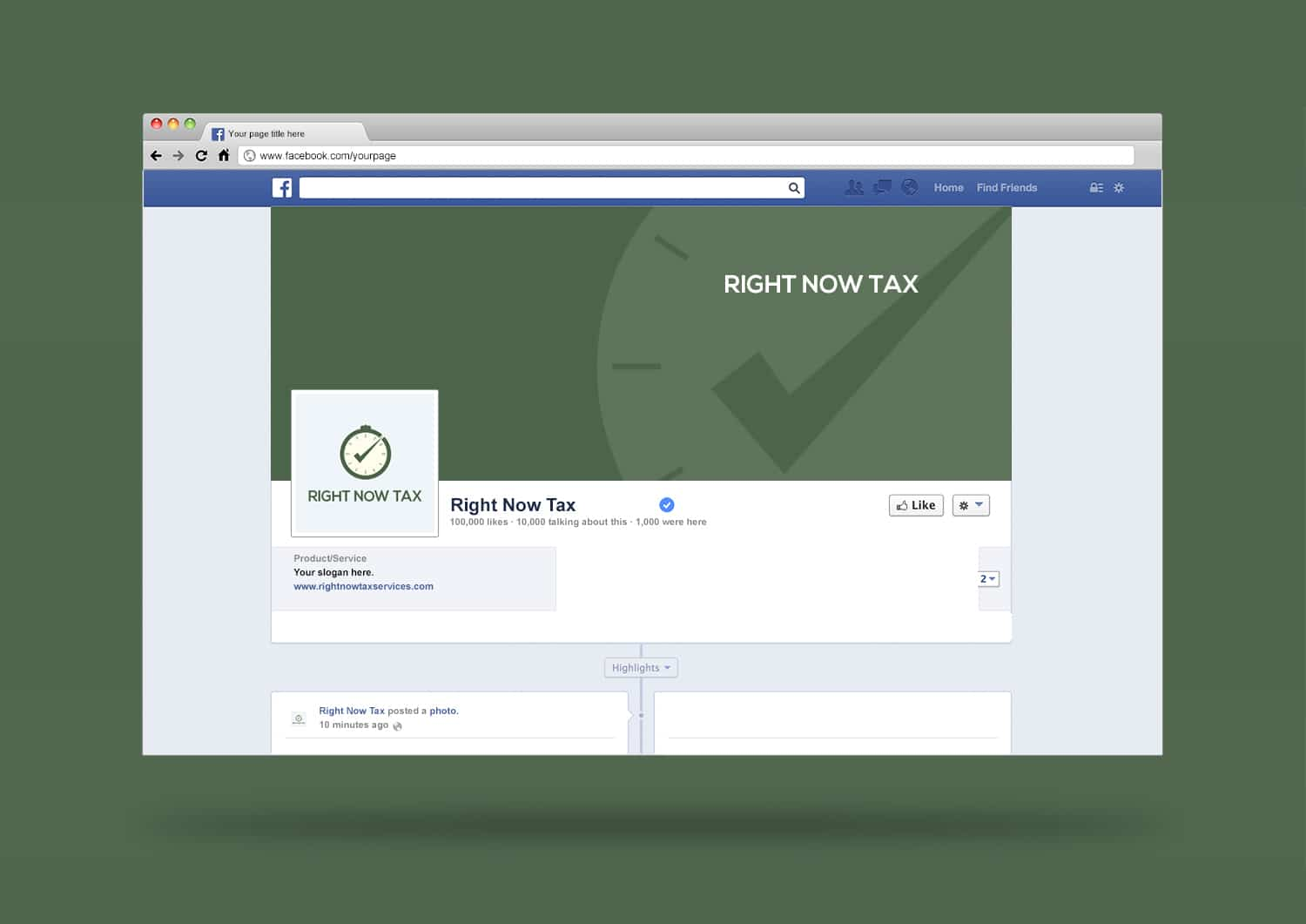 Right Now Tax Facebook